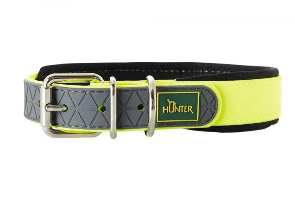 HUNTER Hundehalsband Convenience Comfort V2 neongelb