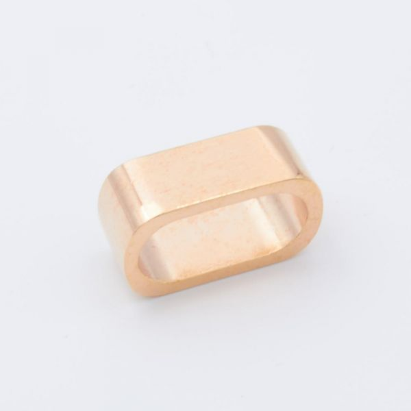 Oval-Ring 22x11 roségold