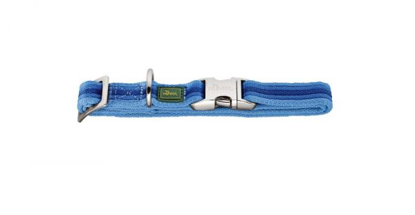 HUNTER Davao Hundehalsband Alu-Strong blau